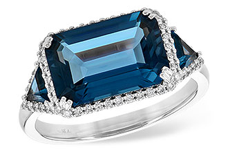 D217-93310: LDS RG 4.60 TW LONDON BLUE TOPAZ 4.82 TGW