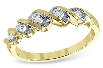 L120-69719: LDS WED RING .25 TW